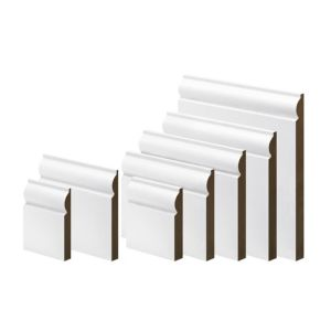 View White Primed MDF Torus Skirting (L)3600mm (W)119mm (T)18mm details