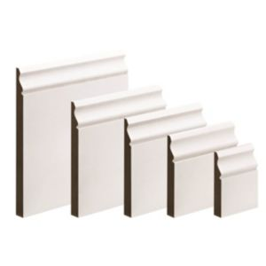 View Metsäwood White Primed MDF Ogee Skirting (L)3600mm (W)169mm (T)18mm details