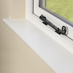 View White Fully Finished MDF Window Board (L)2100mm (W)219mm (T)25mm details