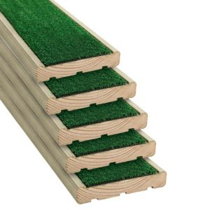 View Grassedeck Softwood Deck Board (W)144mm (L)2100mm (T)28mm, Pack of 5 details