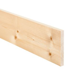View Softwood Planed Smooth Planed Timber (L)2400mm (W)144mm (T)18mm Pack of 8 details