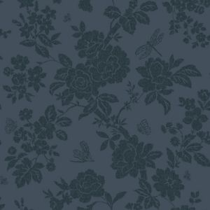 View Nina Navy Blue Floral Wallpaper details