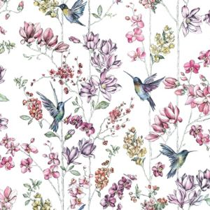 Image of Statement Floral Wallpaper