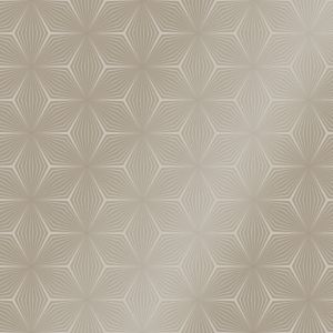 Image of Statement Taupe & gilver Geometric Glitter Wallpaper