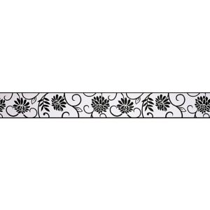 Photo of Abigail black & white floral border