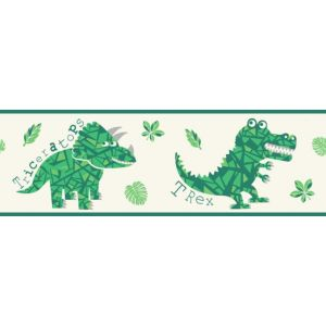 View Dinosaur Cream & Green Border details