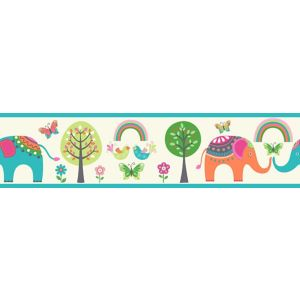 View Paste The Wall Elephant & Trees Multicolour Border details
