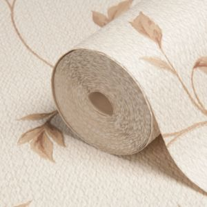 View Lucia Beige Vinyl Wallpaper details