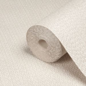 View Lucia Plain Beige Vinyl Wallpaper details