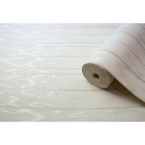 View Flame Stitch Stripe Stripes White Vinyl Wallpaper details