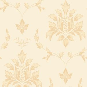 View Olivia Damask Cream Vinyl Wallpaper details