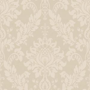View Clara Damask Mink Wallpaper details