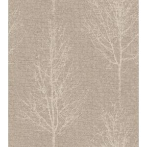Image of Opus Hadrian Taupe Tree Mica Wallpaper