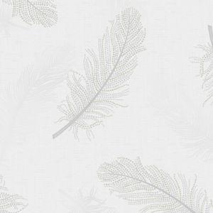 Image of Opus Marcia Grey Feather Metallic effect Paintable Wallpaper