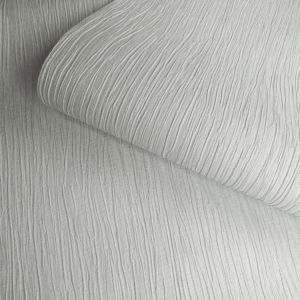 Image of Opus Loretta Grey Texture Metallic effect Paintable Wallpaper