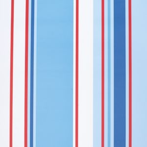 View Paige Stripe Blue, Red & White Wallpaper details
