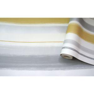 Image of Statement Talbot Yellow & Grey Stripe Wallpaper