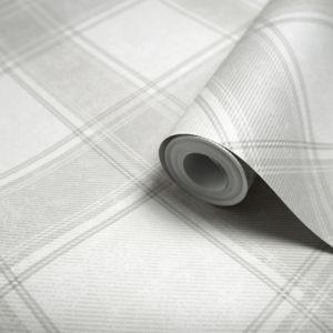 Image of Holden Grey Tartan Wallpaper