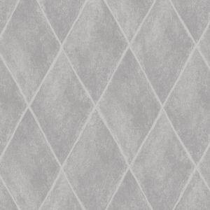 Image of Statement Etna Grey Geometric diamond Mica Wallpaper