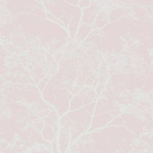 Image of Statement Whispering Pink Tree Glitter Wallpaper