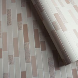 Image of Holden décor Cream Tile effect Wallpaper