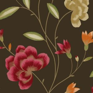 View Havana Floral Brown, Green & Red Wallpaper details
