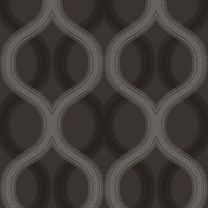 View Solaris Black & Grey Statement Beads Geometric Wallpaper details