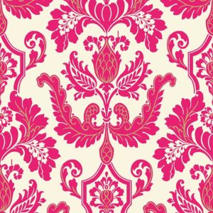 View Cicely Pink Flock Wallpaper details