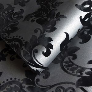 Image of Holden Black Glitter Wallpaper