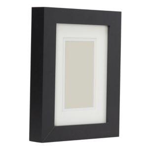 Image of Black Single Frame Wood Picture Frame (H)22cm x (W)17cm