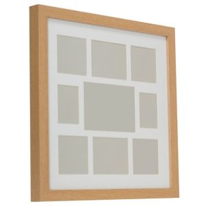 View Oak Effect Wood 9 Aperture Picture Frame (H) 44cm x (W)44cm details