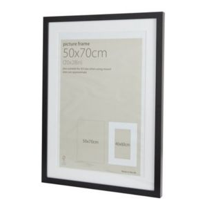 View Black Wood Picture Frame (H) 74cm x (W)54cm details