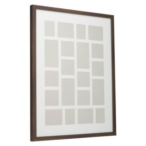 View Dark Wood Effect Wood 20 Aperture Picture Frame (H) 840mm x (W)640mm details