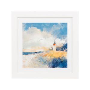 Image of Summer dunes White Framed art (W)360mm (H)360mm