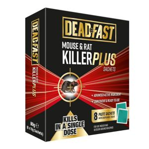 Image of Deadfast Plus Rodenticide sachets 80g