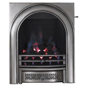 View Focal Point Arch Inset Gas Fire Chrome Effect details