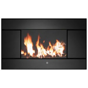 View Focal Point Evoke Black LCD Display Remote Control Wall Hung Electric Fire details