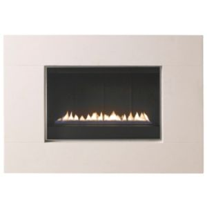 View Focal Point Purist Light Grey Manual Control Wall Hung Gas Fire details