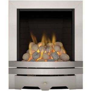 View Focal Point Lulworth Inset Gas Fire Brushed Stainless Steel details