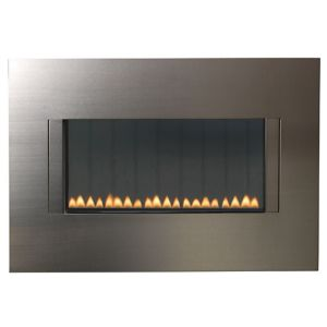 View Focal Point Cascara Wall Hung Gas Fire Brushed Stainless Steel details