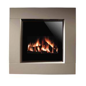 aurora dorchester black remote control electric fire suite. Black Bedroom Furniture Sets. Home Design Ideas