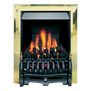 Blenheim Black & Brass Effect Manual Control Inset Gas Fire