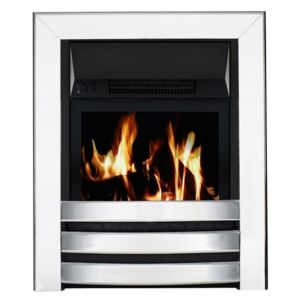 View Focal Point Langham Aluminium Effect LCD Display Remote Control Inset Electric Fire details