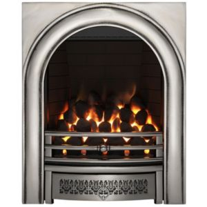Image of Focal Point Arch Satin Chrome Remote Control Inset Gas Fire