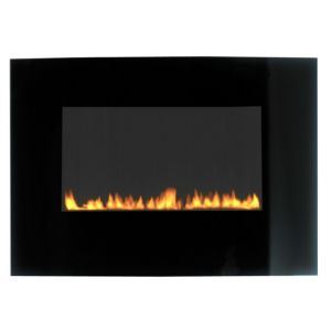 View Focal Point Radium Black Wall Hung Gas Fire Glass Front details