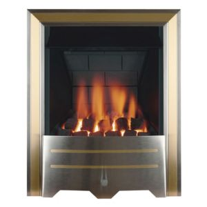 Argent Multi Flue Chrome & Brass Effect Manual Control Inset Gas Fire