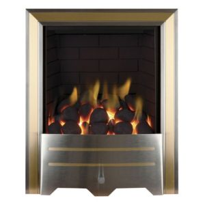 Argent Chrome & Brass Effect Manual Control Inset Gas Fire
