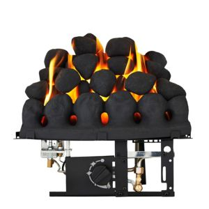 View Focal Point Taper Black Manual Control Inset Gas Fire details