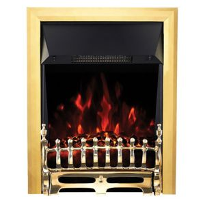 View Focal Point Blenheim LED Display Electric Inset, Semi-Inset or Freestanding Fire, Brass Effect details