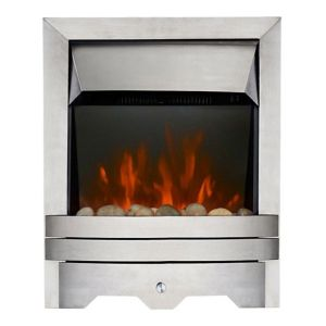 View Focal Point Lulworth LED Display Electric Inset, Semi-Inset or Freestanding Fire, Brushed Stainless Steel Effect details